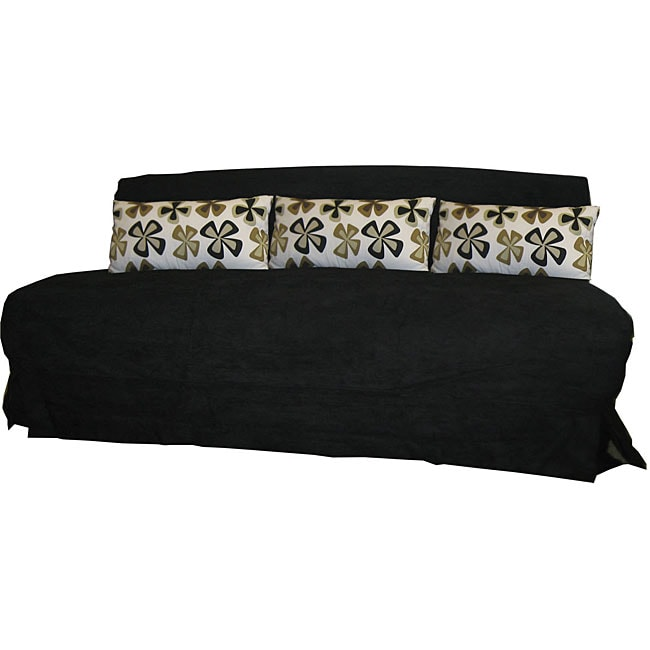 Stella King Size Futon Sofa With Black Cover