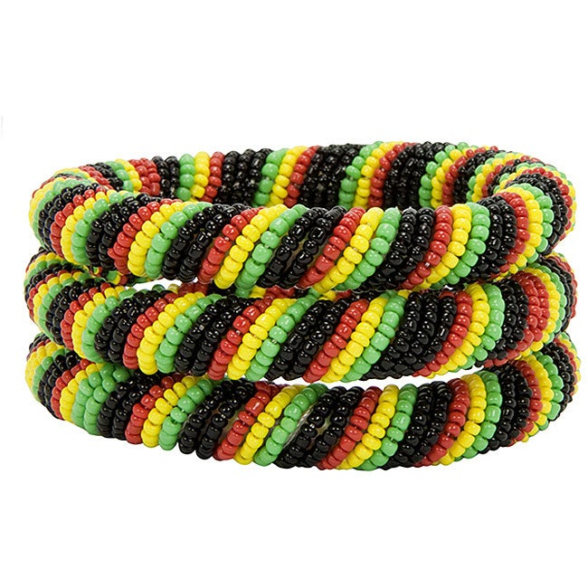 Multicolored Trio of Bracelets (Kenya)