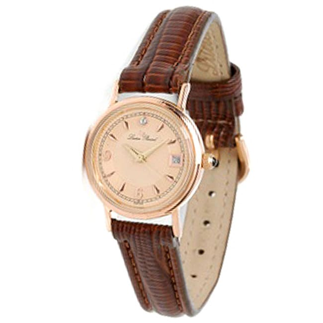 5d73f43c3ff3d Shop Lucien Piccard Women s 14k Rose Gold Watch - Free Shipping Today -  Overstock - 3553562