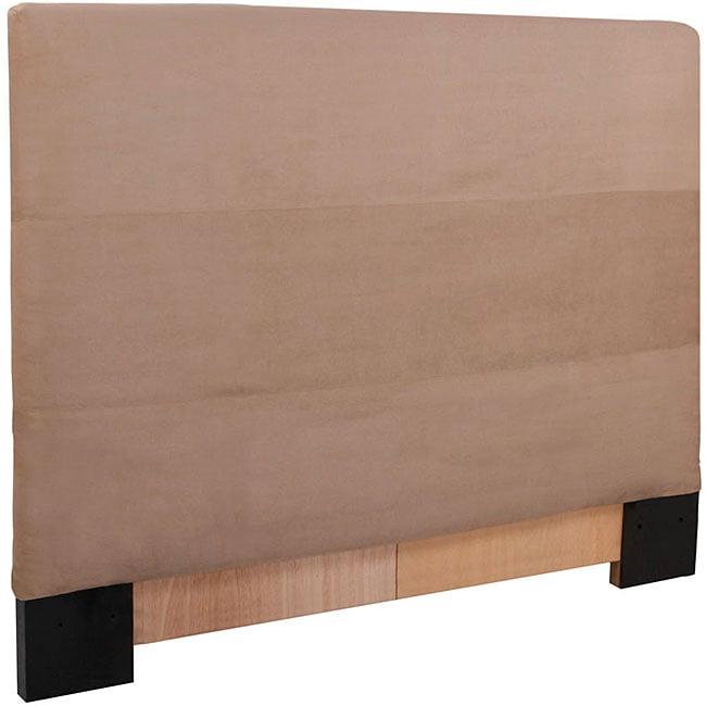King Sandstone Microsuede Slipcovered Headboard