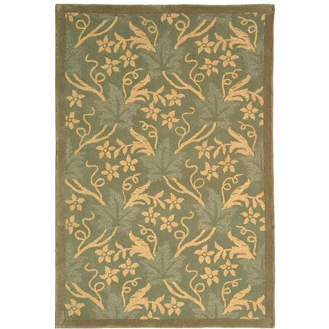 Safavieh Handmade Oasis Blue Wool Rug (8'9 x 11'9)