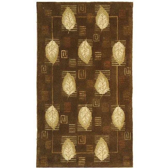 Safavieh Handmade Foliage Sage Wool Rug (2'9 x 4'9)