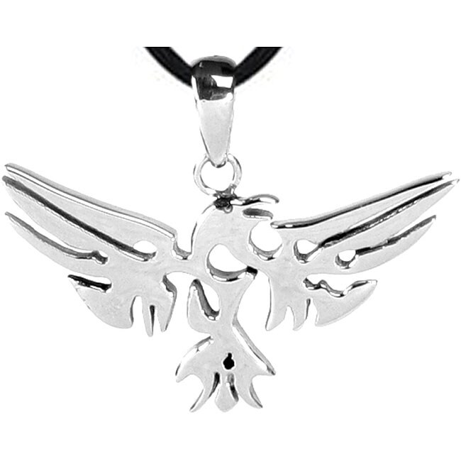 Stainless Steel Phoenix Design Necklace (Stainless Steel ...
