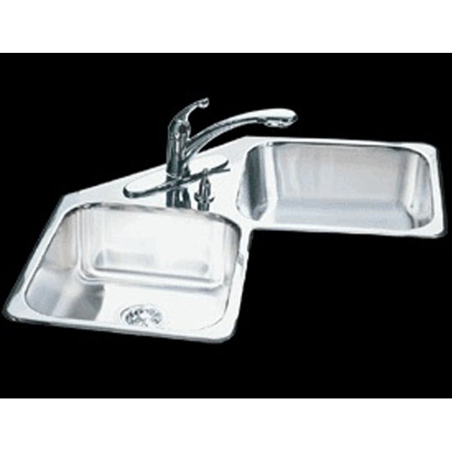 Double Bowl Corner Sink : Kindred Specialty Double-bowl Corner Kitchen Sink - Free Shipping ...