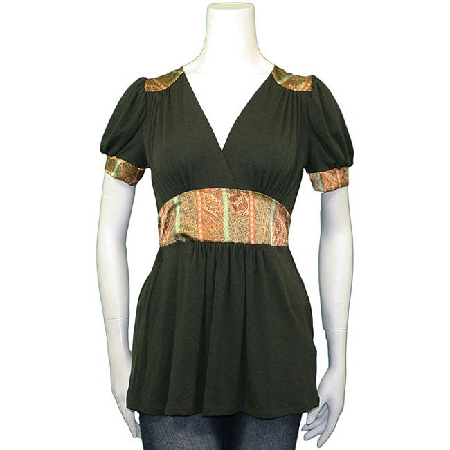 Monteau Junior's Green Bohemian Empire Shirt