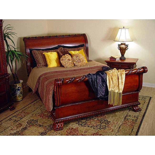 regal cherry 2 piece king size sleigh bedroom set free