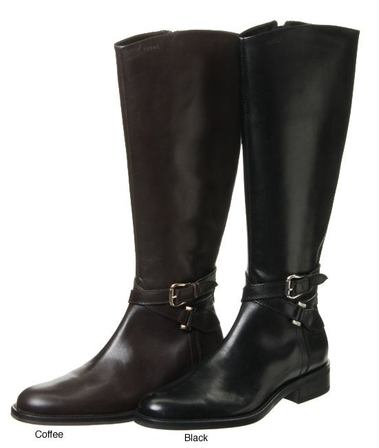 f0c1d270f1f8ba Shop Geox Women's 'Donna' Leather Riding Boots - Free Shipping Today -  Overstock - 3570946