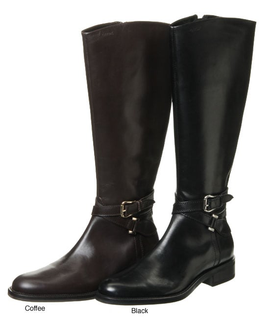 Geox Women's 'Donna' Leather Riding Boots - Free Shipping Today ...