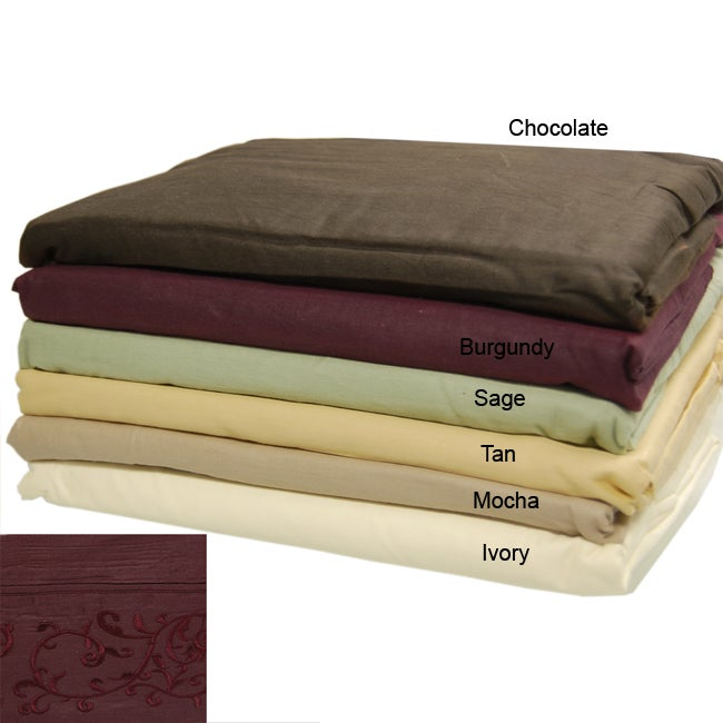 Platinum Collection 400 Thread Count Embroidered Sheet Set