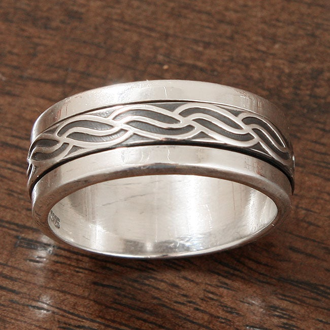 Sterling Silver 'Ocean Current' Spinner Ring (Mexico)
