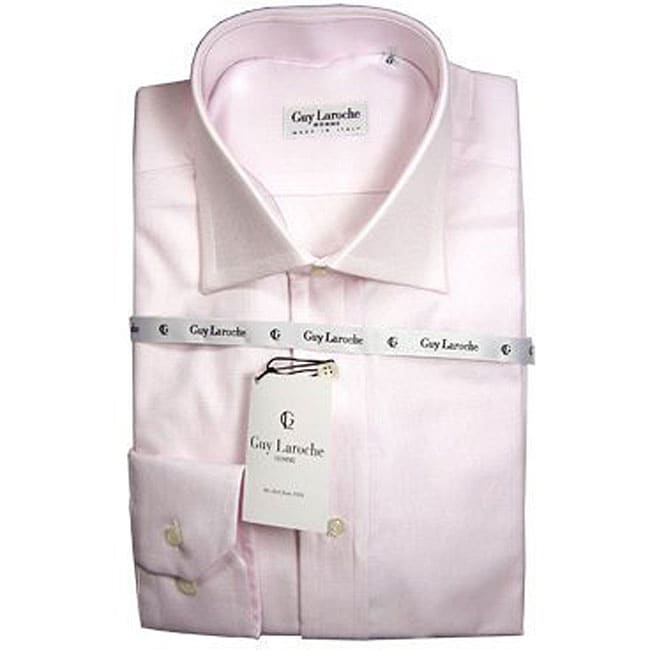 guy laroche men 39 s pink dress shirt free shipping today