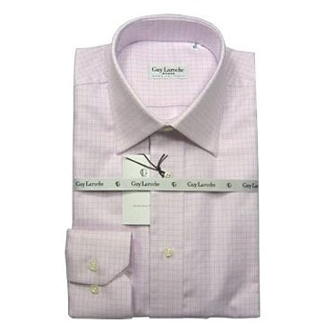 guy laroche men 39 s pink checkered dress shirt free