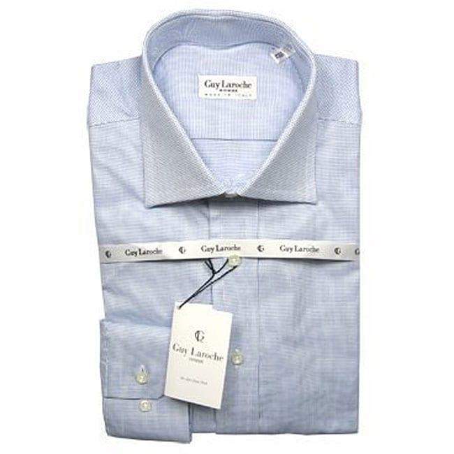 7ec38642d8d Shop Guy Laroche Men s Light Blue Dress Shirt - Free Shipping Today -  Overstock - 3586448