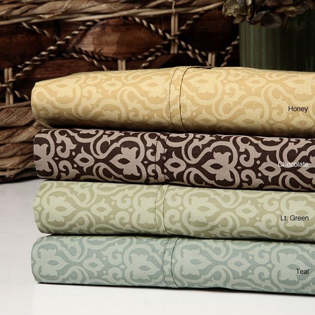 Kristie Medallion 300 Thread Count Cotton Sheet Set