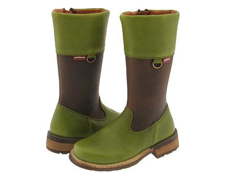 Petit 11508-1 (Toddler/Youth) Tomcat Paris (Green Leather)