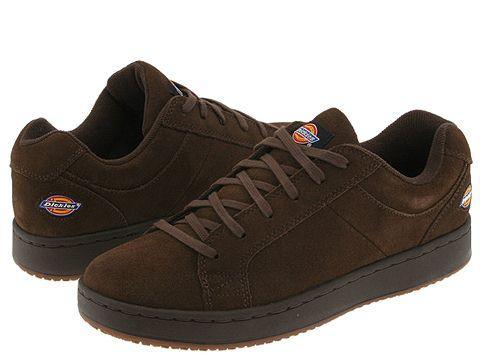 dickies slip resistant skate shoe brown free shipping on