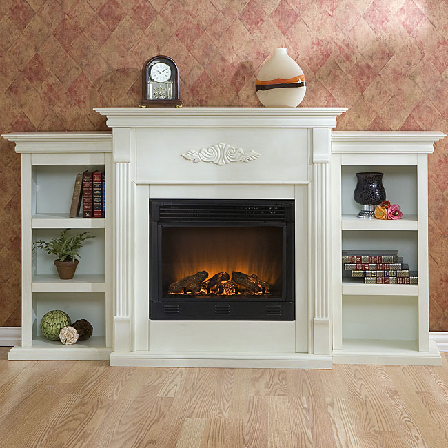 Dublin Bookcase Electric Fireplace Free Shipping Today 11671427