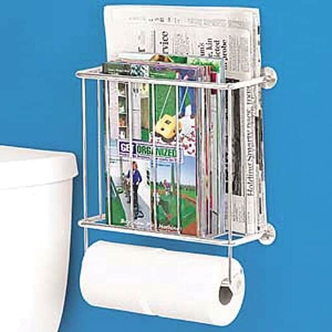 wire magazine rack toilet paper holder free shipping on. Black Bedroom Furniture Sets. Home Design Ideas