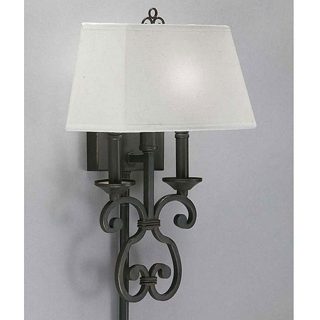 Olde Bronze Finish Pin-up Plug-in Lamp