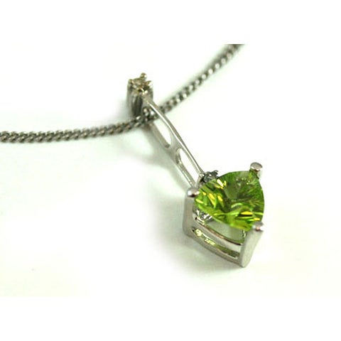Michael Valitutti 14k Trillion-cut Peridot Diamond Necklace