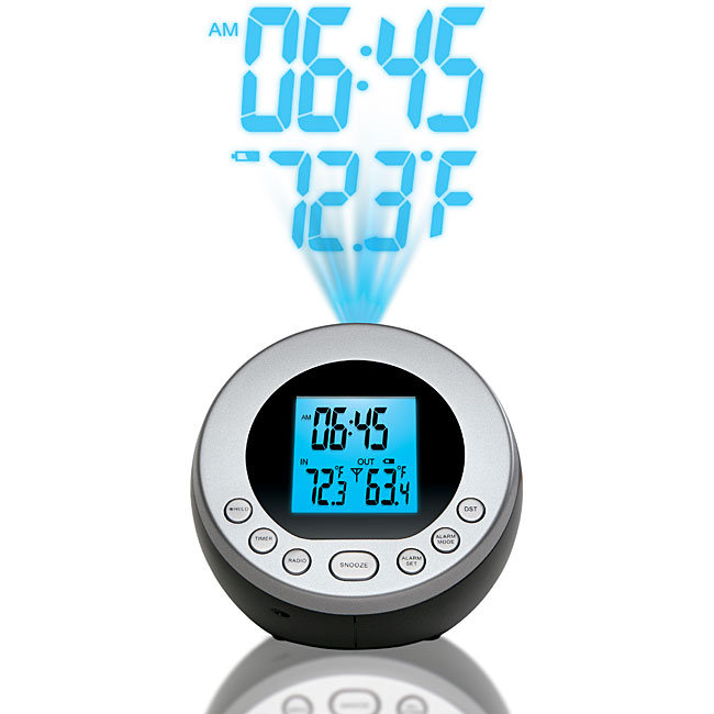 Shop The Sharper Image Projection Alarm Clock Free Shipping On
