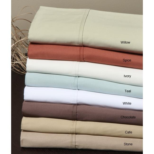 Solid Sateen 400 Thread Sheet Set with Bonus Pillowcases