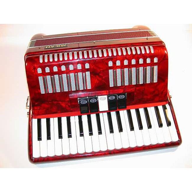 MILAN 48 Bass 34 Key Piano Accordion