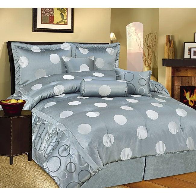 Malibu 4-piece Grey Comforter Set