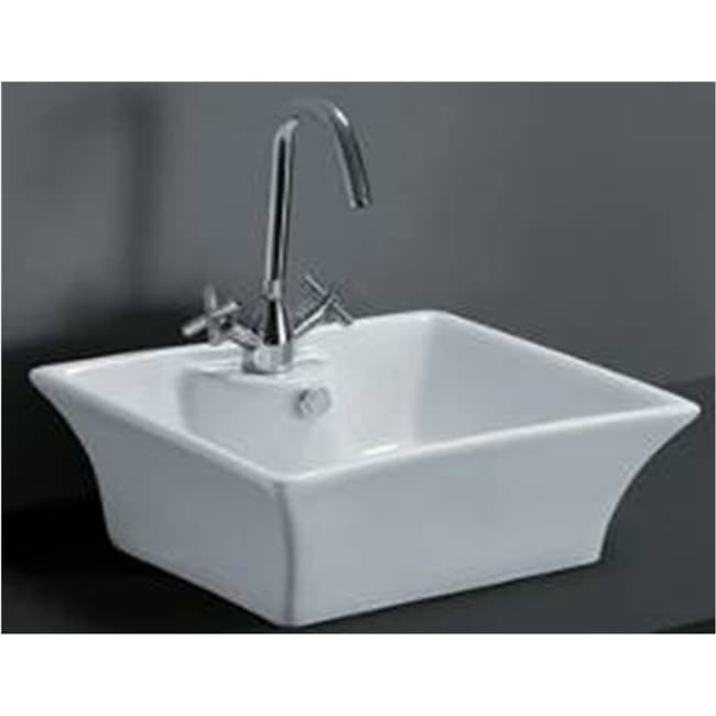 Rectangular Porcelain Bathroom Vessel Sink