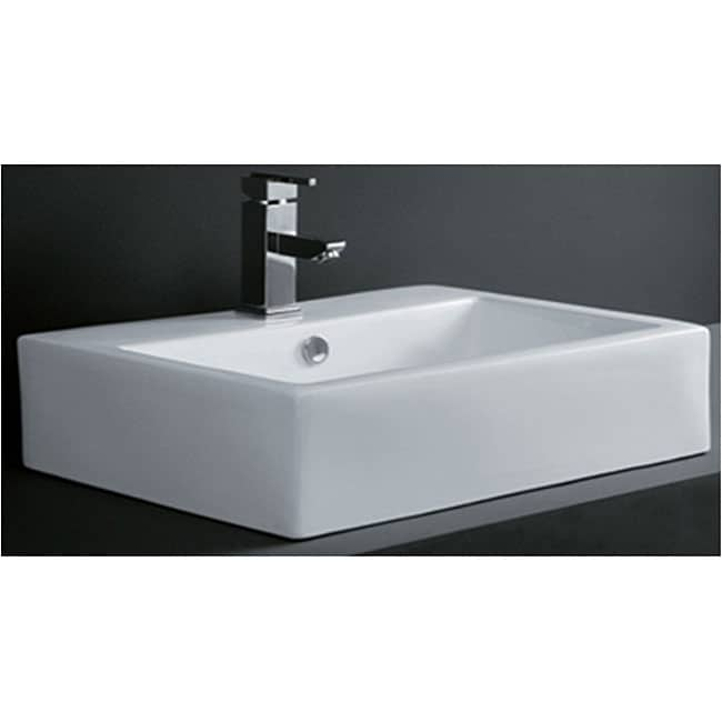Bathroom Sinks Overstock rectangular porcelain bath vessel sink - free shipping today