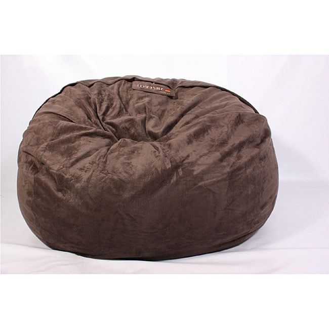 LoveSac 8 Foot Foam BigOne Epresso Lounge Bag/ Chair
