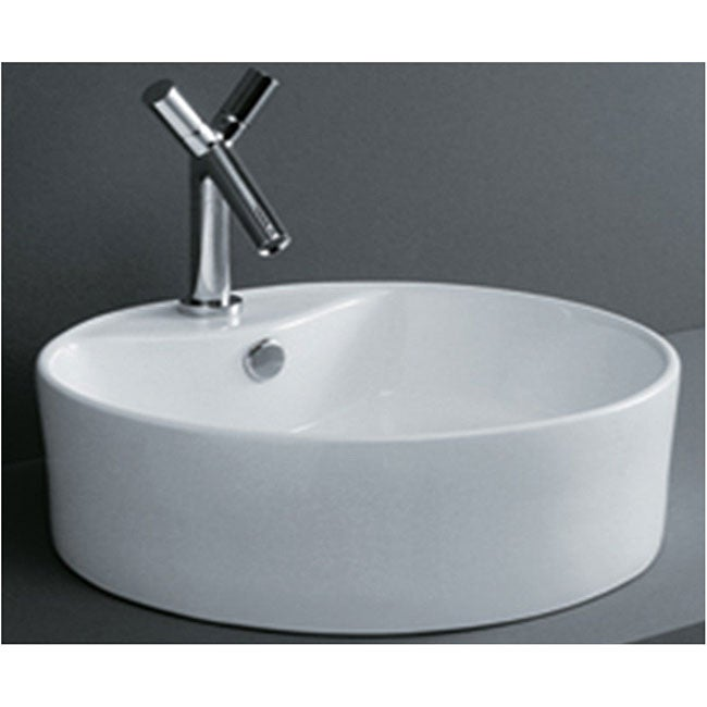 Round Flush Porcelain Bathroom Vessel Sink