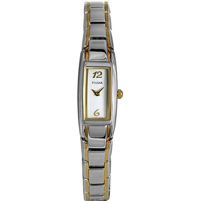 Pulsar Women's 'Dress' Two-tone Bracelet Watch