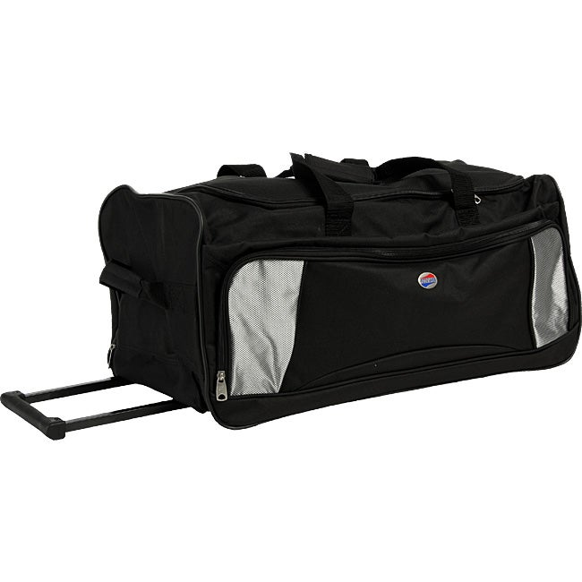 Shop American Tourister Black Rolling Duffel Bag - Free Shipping On Orders  Over  45 - Overstock - 3656794 2404eb65cea69