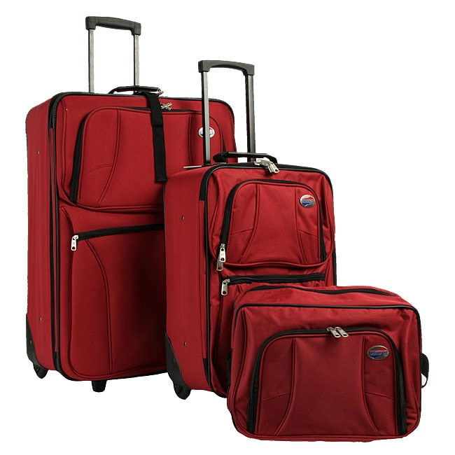 3894c02b4 Shop American Tourister Valencia 3-piece Luggage Set - Free Shipping Today  - Overstock - 3656755