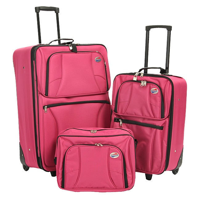 32c428e5f Shop American Tourister Valencia 3-piece Luggage Set - Free Shipping Today  - Overstock - 3656775