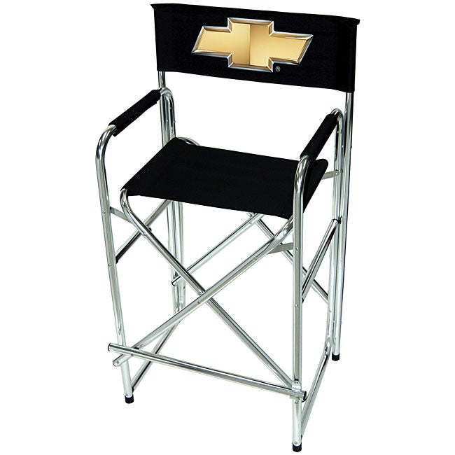 Shop Tall Chevy Logo Director Chair Free Shipping Today