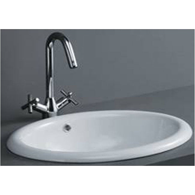 oval bathroom sinks drop in oval drop in porcelain bathroom sink free shipping today 23895