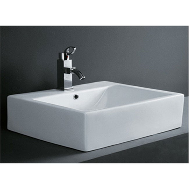 DeNovo Rectangular Porcelain Bath Vessel Sink