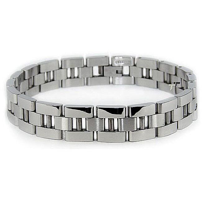 Stainless Steel Men's Polished Link Bracelet