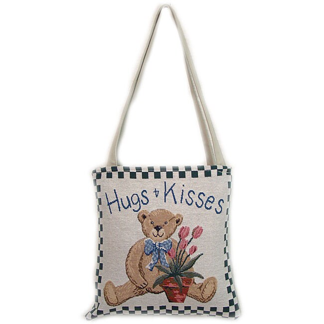 American Mills 'Hugs' Tapestry Tote Bag