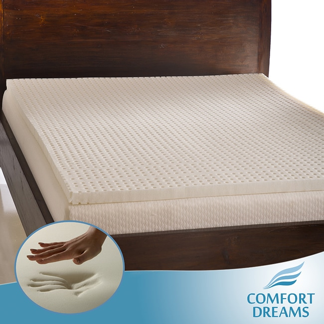 Comfort Dreams Ventilated 2-inch Queen/ King-size Memory Foam Mattress Topper
