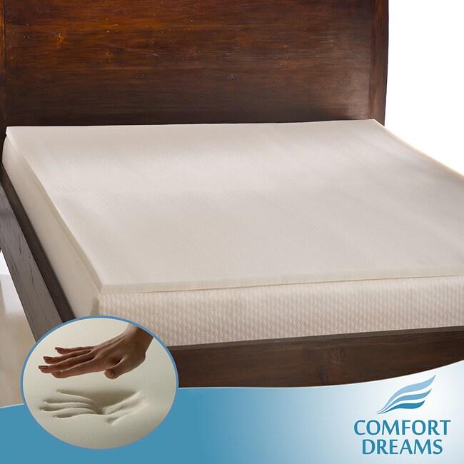 Comfort Dreams Ultra Soft 1-inch Memory Foam Mattress Topper