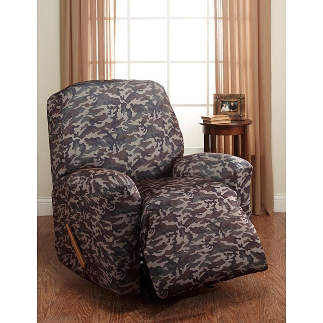 Shop Camouflage Stretch Recliner Slipcover Free Shipping