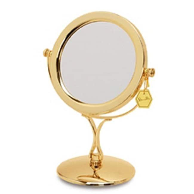 Shop Danielle Belle Brass 1x 7x Vanity Mirror Free