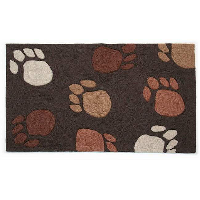 Hand Hooked 'Paw Prints' Pet Rug