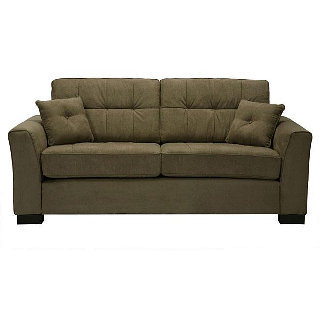 Chey Gray Sage Microfiber Sofa Free Shipping Today 3664353