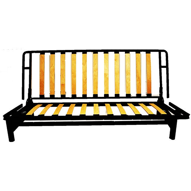bi fold metal futon sofa bed frame free shipping today overstock 11726286