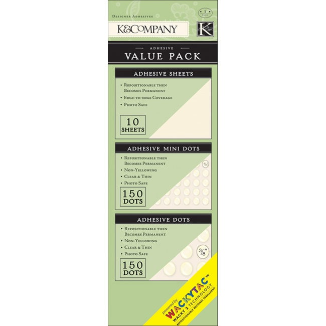 Wacky Tac Adhesive Value Pack