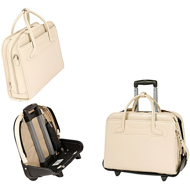 McKlein Sand Willowbrook Detachable-Wheeled Laptop Briefcase